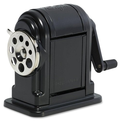 (Elmer's Ranger 55 Table-Mount or Wall-Mount Pencil Sharpener - Desktop - 8 Hole(s) - Metal - Black)