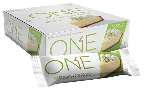 ONE Protein Bar, Key Lime Pie, 20g Protein, 1g Sugar, 12-Pack (Food Bar Key Lime Pie)