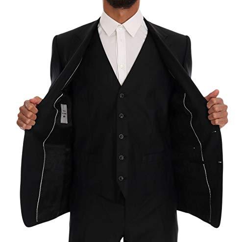 Martini Gabbana Dolce Wool Fit Slim Black Suit Silk amp; HXgFU