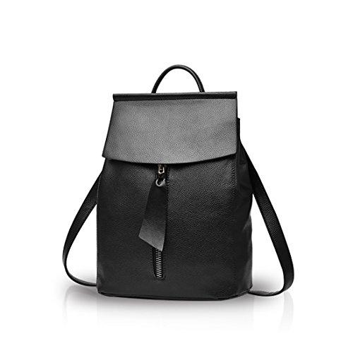 Nicole&Doris Fashion Women School Travel Outdoor Shoulder Bag Girls Travel Backpack Daypack PU Leather Red Black