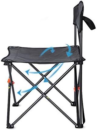 Chaise Longues De Plein Air Chaises De Camping Avec Dossier Compact Poids Léger Portable Équipement De Camping Pour La Pêche,Noir