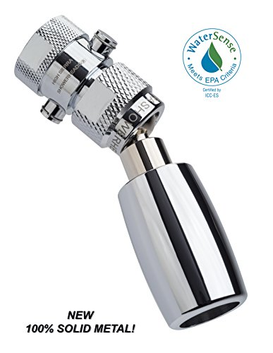 High Sierra's All Metal WaterSense Certified 1.5 GPM High Efficiency Low Flow Showerhead with Trickle Valve. Available in: Chrome, Brushed Nickel, Oil Rubbed Bronze, or Polished Brass (Polished Compact Nickel)
