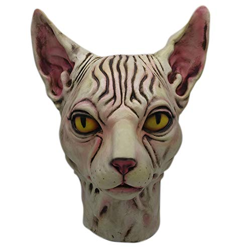 Cyhulu Funny Cosplay Hairless Cat Grinch Mask Melting