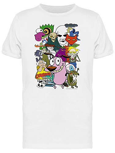 Courage The Cowardly Dog Characters Graphic Men's White T-shirt