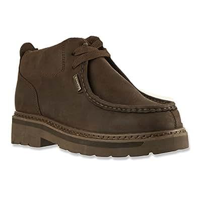 Lugz Men's Strutt Moc Toe Boots,Brown,7.5 D
