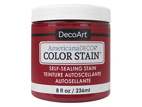 Paint Oz Americana Red 8 - DecoArt ColorStain8ozRealRed Americana Stain 8oz Real Red