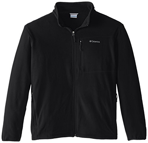 Columbia Men's Big & Tall Cascades Explorer Full Zip Midweight Fleece Jacket, Black, 4X by Columbia