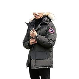 Men's Winter Coat Water-Repellent Windproof Fur Hooded Thicken Long Parka Puffer Jacket