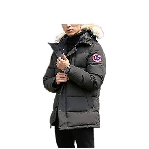 Men's Winter Coat Water-Repellent Windproof Fur Hooded Thicken Long Parka Puffer Jacket 1