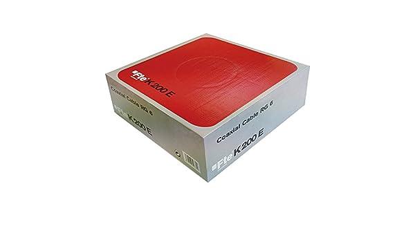 Fte-maximal k 200e - Cable coaxial 750h diámetro 4,6 k200e pvc blanco: Amazon.es: Bricolaje y herramientas