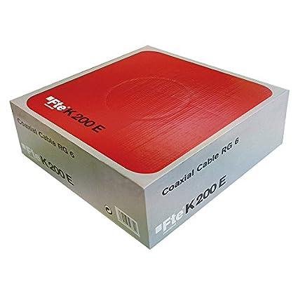 Fte-maximal k 200e - Cable coaxial 750h diámetro 4,6 k200e pvc blanco