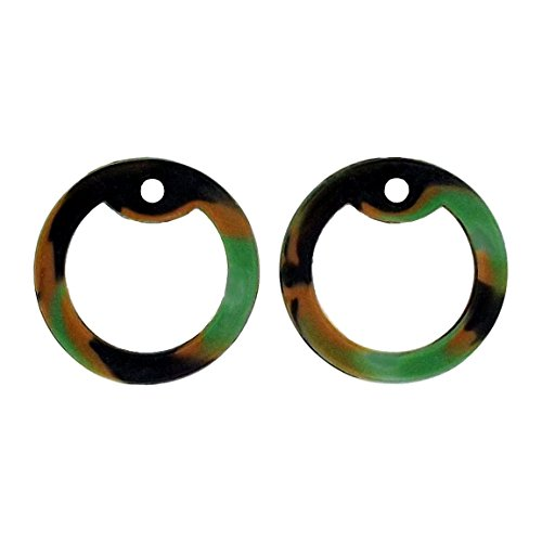 Image of Tag-Z Military Dog Tag Silencers - 2 Pieces - 42 Silencer Colors to choose from! - Woodland Camo (Green, Black & Brown Camo)