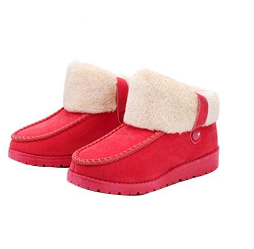 Gaorui women Winter slippers warm thermal plush Flat shoes b