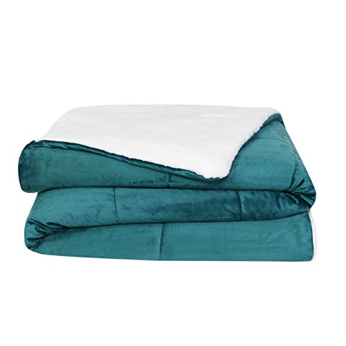 durable modeling VCNY Home Micro Mink Sherpa 3-piece Comforter Set Teal Queen 3 Piece
