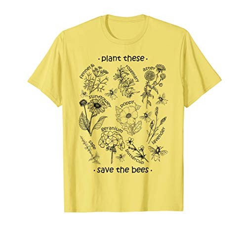 Plant These Save The Bees Shirt Yellow
