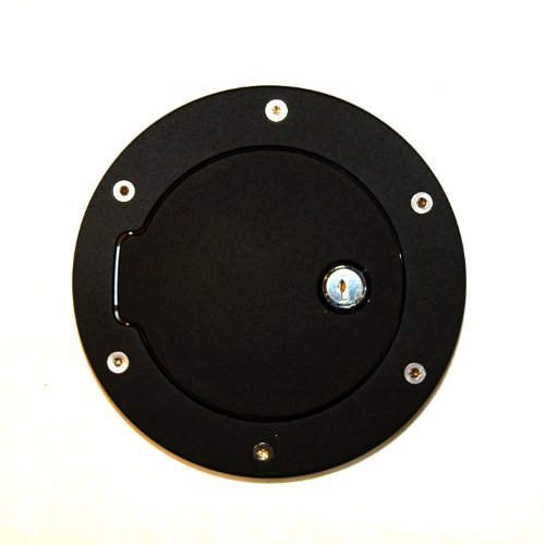 (AMI 6047GKL Race Style Billet Fuel Door 6 1/2'' Ring O.D. 4 1/2'' Door O.D.-Gloss Black Ring and locking door, 1 Pack)