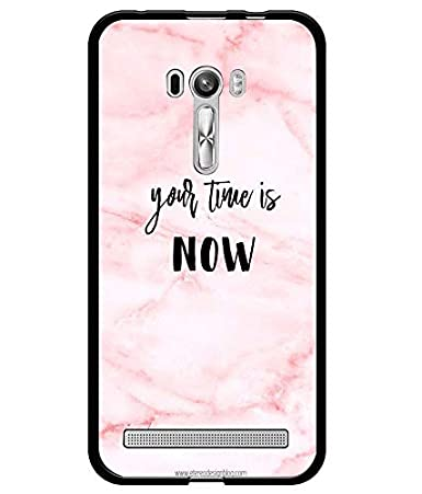 Amazon.com: Silicone Case Your Time is Now Pink Background ...