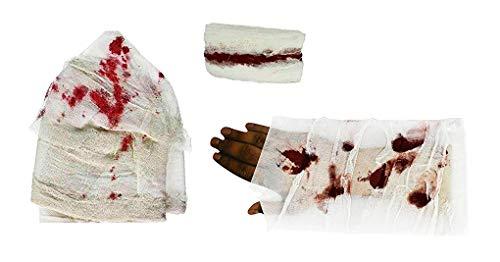 Bloody Bandages Halloween (Bloody Bandages (Pack of 3 Styles: 28 Feet Gauze, Armband, Head-wrap) Zombie Costume, Dress Up)