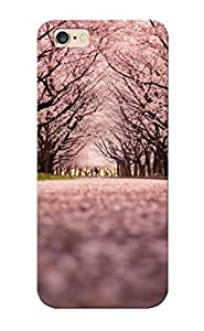 0ac134d1332 Cherry Blossom Flowers Tree Path Trail Protective Case Cover Skin/iphone 6 Plus Case Cover Appearance WANGJING JINDA