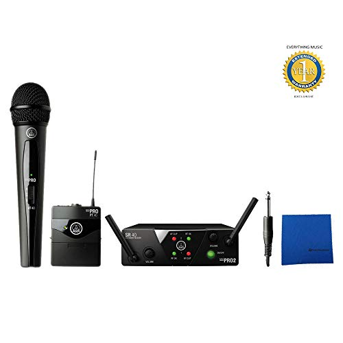 AKG WMS40 Mini2 Dual Vocal & Instrumental Set Wireless Microphone System with 1 Year Free Extended Warranty