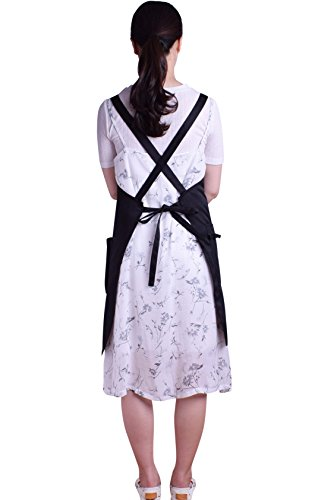 Nanxson Fashion Women Multi Function Working Work Apron with Tool Pockets CF3010 Black by Nanxson (Image #2)
