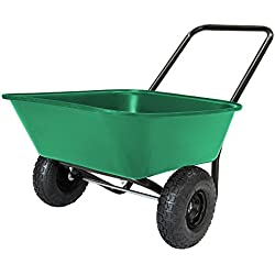 MARASTAR Garden Star 70019 Garden Barrow Dual-Wheel Wheelbarrow/Garden Cart