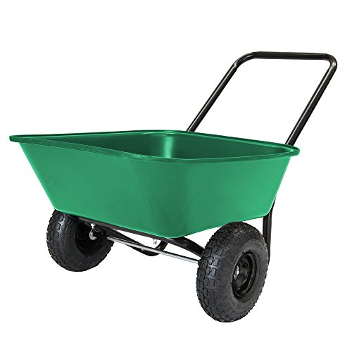 Garden Star 70019 Garden Barrow Dual-Wheel...