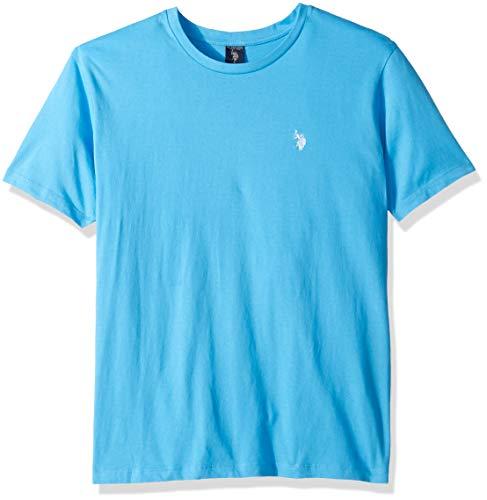 U.S. Polo Assn. Men's Crew Neck Small Pony T-Shirt, Coast Azure, M
