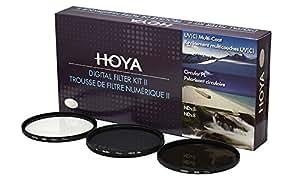 Hoya 52mm Digital Filter Kit - HMC UV(C), Circular Polarising & NDx8 with Filter Pouch