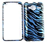 Blue/Black Zebra Print Design Snap-on Faceplate Case Cover For HTC EVO SHIFT 4G