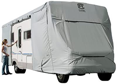Classic Accessories OverDrive PermaPRO Deluxe Class C RV Cover - Lightweight Ripstop Fabric with RV Cover