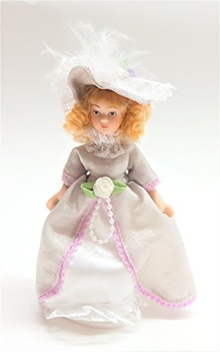 Melody Jane Dollhouse Victorian Young Lady Girl Miniature People Porcelain LC