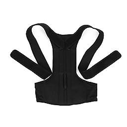 Shoulder Back Waist Support,Yosoo Adjustable Back Support Posture Corrector Brace Posture Correction Belt for Men Women Back Shoulder Support Belt (L)