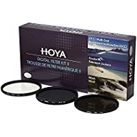 Hoya 62mm (HMC UV / Circular Polarizer / ND8) 3 Digital Filter Set with Pouch