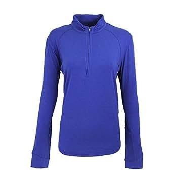San Soleil Ecosol Long Sleeve Mock Neck Solid Polo Golf