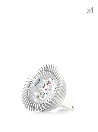Hispania Pack 4 Dicroicas LED MR16 pincho 5W de consumo | 200 lumens, luz cálida 3000K