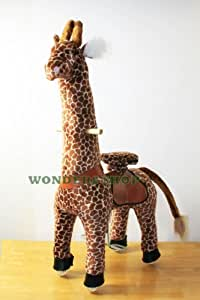 WONDERS SHOP USA - Pony Cycle Ponycycle Walking Ride On GIRAFFE - Size MEDIUM for Children 4-9 Years Old or Up to 90 Pounds