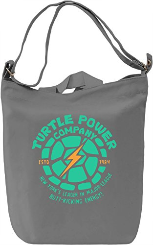 Turtle Power Company Borsa Giornaliera Canvas Canvas Day Bag| 100% Premium Cotton Canvas| DTG Printing|