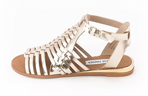Steve Madden - Sandalias de vestir para mujer dorado