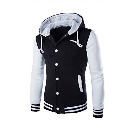Dressin_Men's Clothes Men's PatchworkDrawsting Jacket Sweater Slim Hoodie Warm Hooded Sweatshirt Outwear Coat Tops
