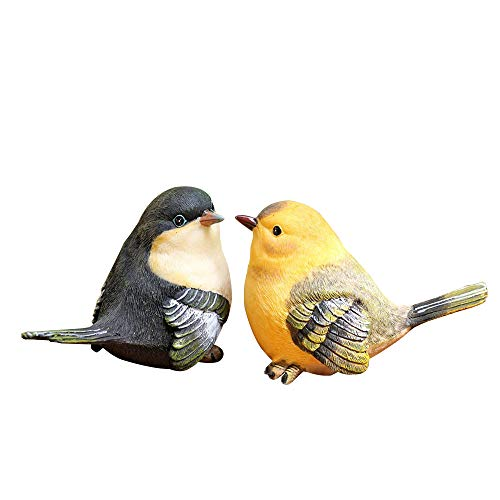 Anewgift Lovely Birds Garden Statue - Funny Outdoor Sculpture Ornaments Décor - Best Indoor Outdoor Statues Yard Art Figurines for Patio Lawn House