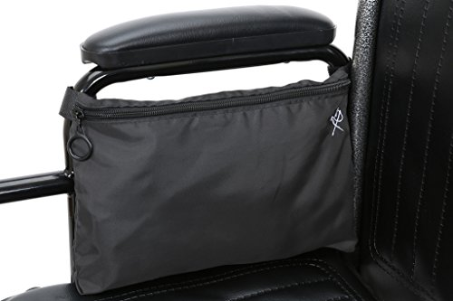 Pembrook Wheelchair Pouch Bag - Gray - Great simple accessory pack for your mobility devices. Fits most Scooters, Walkers, Rollators - Manual, Powered or Electric Wheelchairs
