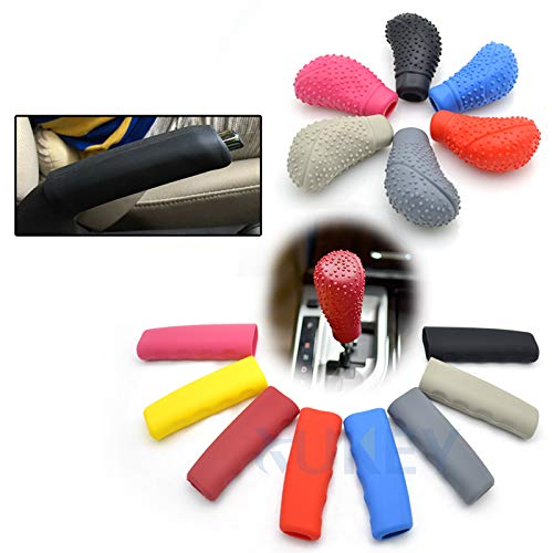 XUKEY Car Auto Universal Oval Shaped Large Silicone Gear Shift Knob Cover Manual Automatic Hand Brake Cover Interior Parking Handle