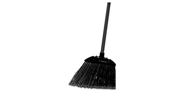 "Rubbermaid Commercial Lobby Pro Broom Poly Bristles 35/"" Metal Handle Black"