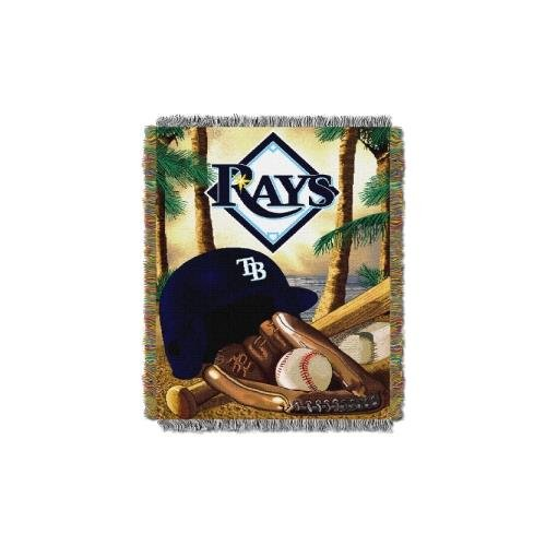 The Northwest Company MLB Tampa Bay Rays Home Field Advantage Woven Tapestry Throw, 48