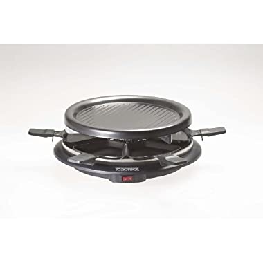 Toastess TPG-315 6-Person Nonstick Party Grill and Raclette