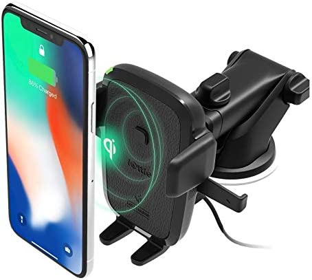 iOttie Easy One Touch Wireless Qi Fast Charge Car Mount Kit | Fast Charge: Samsung Galaxy S10 S9 Plus S8 S7 Edge Note 8 5 | Standard Charge: IPhone X 8 Plus & Qi Enabled Devices | + Dual Car Charger
