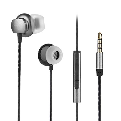 In-ear Earbuds,COSPOR Wired Headphones Hands-free Noise Cancelling Earphones with Microphone and Volume Control