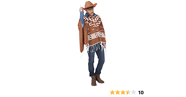 Rubies - Set cowboy con poncho y sombrero, talla única (S8237)