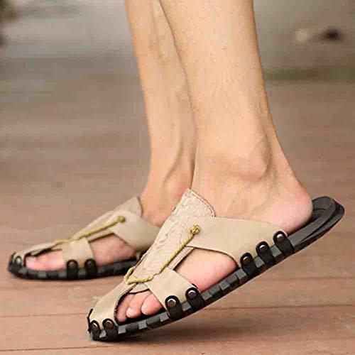 Gray Da Sandali 38 Comfort Antiscivolo Casual Soft Uomo Scarpa Antiscivolo Baotou 5qCqz